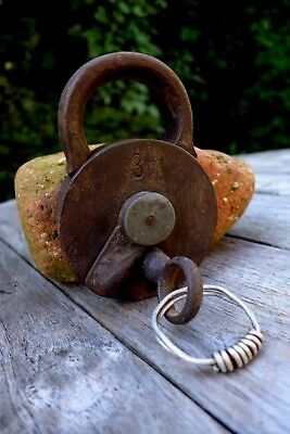 Antique Padlock with one key F.Sengpiels working order Made in Germany No.3