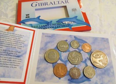 Gibraltar 2000 Brilliant uncirculate Coin Collection ~ original sealed packaging