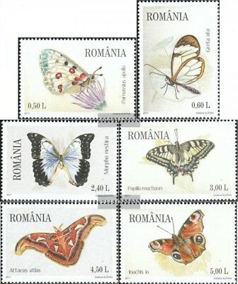 Romania 6509-6514 (complete.issue.) unmounted mint / never hinged 2011 Butterfli