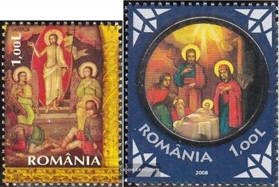 Romania 6276,6333I (complete.issue.) unmounted mint / never hinged 2008 Easter,