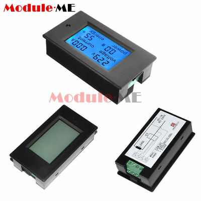 50A DC Digital LCD Power Panel Meter Monitor Power Energy Voltmeter Ammeter S99