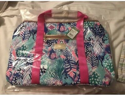 Nwt Lilly Pulitzer Carry On Duffel Travel Bag Tote Gwp Quill Out Pretty Rare
