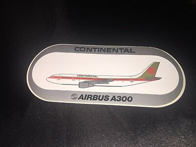 Lot Of 3 Continental Airlines A-30, Airbus A300 aviation aircraft  decal/Sticker