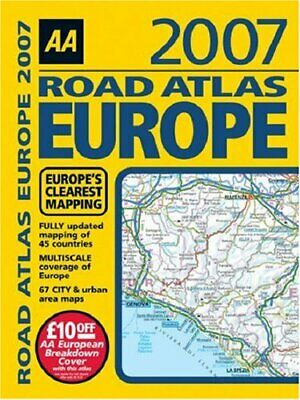 AA Road Atlas Europe 2007 (AA Atlases) by AA Publishing Paperback Book The Cheap