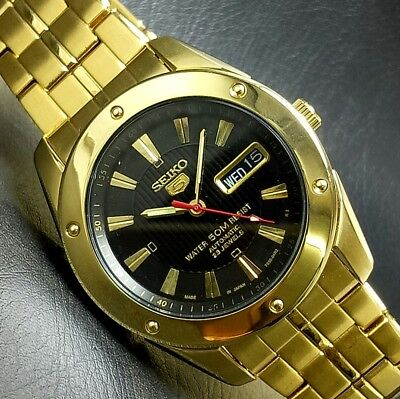 Vintage Gold Plated Seiko Automatic Movement No 7S36 Japan Made Mens Watch