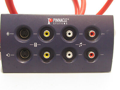 Pinnacle Systems Blue Box Audio/Video Breakout Box w/Cable - P/N 40160734