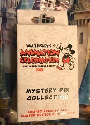 Disney Animation Celebration Event 2018 One UNOPENED Mystery Pin Box With 2 Pins