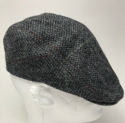 100% Irish wool   Donegal tweed flat cap Hanna Hats SMALL Driving Newsboy f29045b22646
