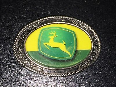 Heavy JOHN DEERE Belt Buckle with Deer Logo Colorful