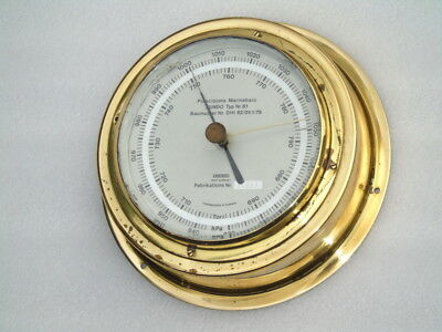 All Brass Precision Sundo West Germany Jewelled Ships Boat Weather Barometer