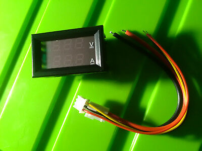 voltmeter Amperemeter panel meter LED 7segment red blue