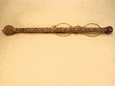 Extremely Rare Table Lorgnette Pierced French Gothic Style  (Gilded Brass(?)