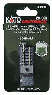 Kato N 20-063 Straight Track Bumper Type A 66 mm with Illuminated Si From japan