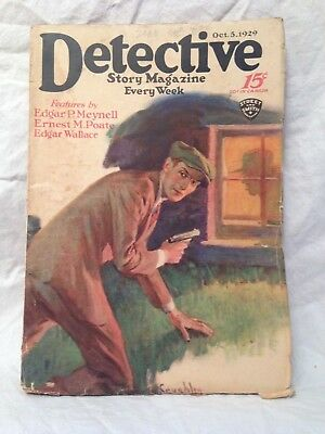 Detective Story Magazine - October 5th 1929 - Edgar Wallace, Edgar Meynell
