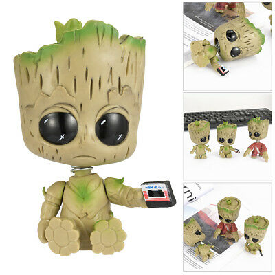 8cm Cute Guardians of the Galaxy PP Groot 3Cosbaby Bobble Marvel Figurine Toy CY