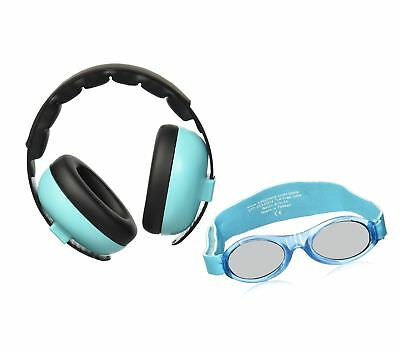 Baby Banz Earmuffs and Infant Hearing Protection and Sunglasses Combo 0-2 Years,