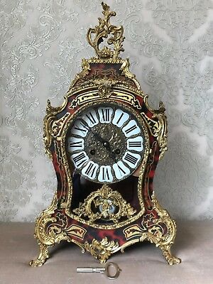 Large Museum Antique Louis XVI French Style Gilt Ormolu Boulle Mantle Clock