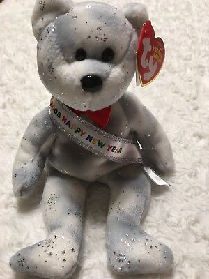 TY Beanie Babies 2008 Happy New Year Red Bow MINT with TAG - NEW Plush Bear