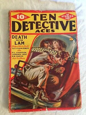 Ten Detective Aces - June 1939 - D L Champion, B B Fowler, Lawrence Treat