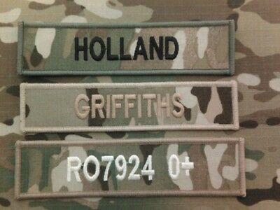 Name Tapes (Multicam MTP name tapes (x3 HOOK BACKED )  for MTP issue uniform)c