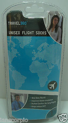 Pair of Unisex Mens Womens Kids one size fits all Travel comfort Flight socks