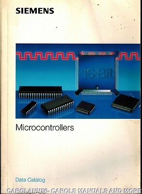 SIEMENS Data Book 1992-93 Microcontrollers Data Catalog