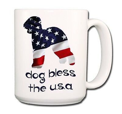 BEDLINGTON TERRIER Dog Bless The USA EXTRA LARGE 15oz COFFEE MUG