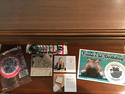 Rookwood Pottery Team Fiona Hippo SIGNED Coaster 2018 Birthday Card, Cookie,