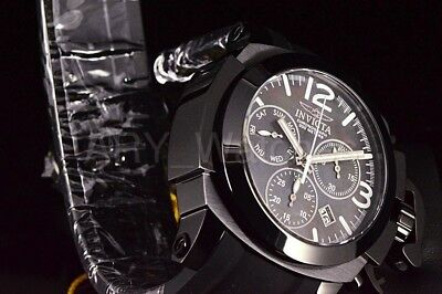 Invicta Man-of-War Coalition Force 53mm COMBAT ALL BLACK Swiss Chronograph Watch