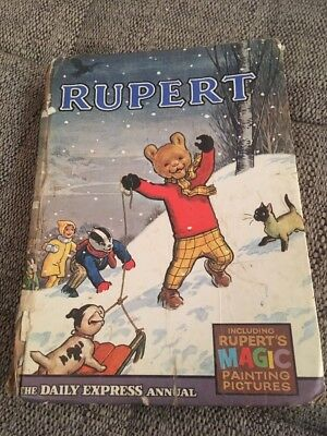 Vintage Original 1967 Rupert Bear Annual