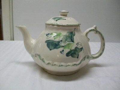 Vintage Pottery by Levine Teapot With Green Ivy & Foam Pattern - Richmond, CA