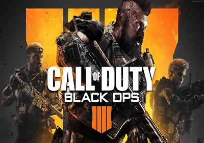Call of Duty Black Ops 4 October 2018 New Release Poster A2, A1, A0 sizes