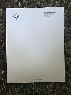 Enron Authentic Color LETTERHEAD EMBOSSED WITH LOGO San Francisco, CA Office!