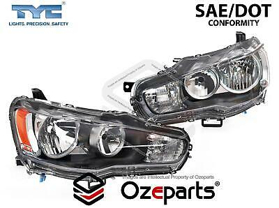Set Pair LH+RH Head Light Lamp For Mitsubishi Lancer CJ Sedan & Hatch 2007~2015