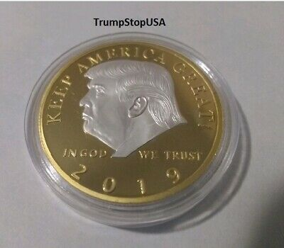 Donald Trump 2019 Color Combo Challenge Coin KEEP AMERICA GREAT! 40 MM Proof