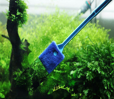 Aquarium Fish Tank Algae Cleaner Glass Scraper Brush Plant Easy Cleaning CHZ