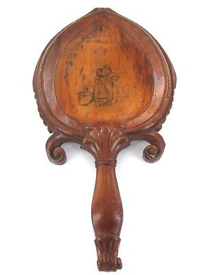 .Antique Continental Carved Wooden Calling Card Tray.