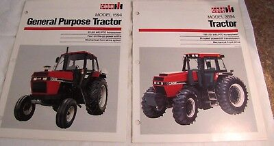 Lot2 Vintage Case International IH Model 3594,1594 Tractor Sales Brochure Manual
