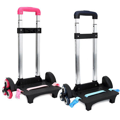 Wheeled Trolley,Folding Compact Lightweight Durable Luggage Cart Travel Trolley