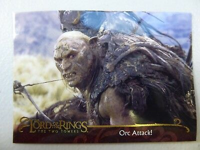 TOPPS Lord of the Rings: The Two Towers - Card #54 ORC ATTACK!
