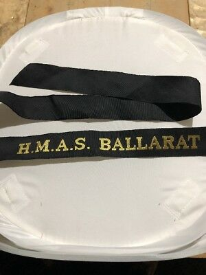 Hmas   Ballarat Genuine Ran  Tally Band  ~  220+ Ships Names Available .