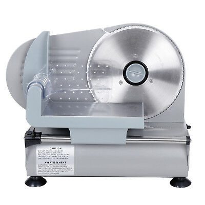 "Commercial 7.5"" Blade Electric Meat Slicer 150w 0-19mm Deli Food Cheese Veggies"