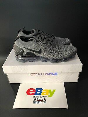 e2ae196cb855 New Nike Air VaporMax Flyknit 2 942842-002 Men Running Wolf Grey Black