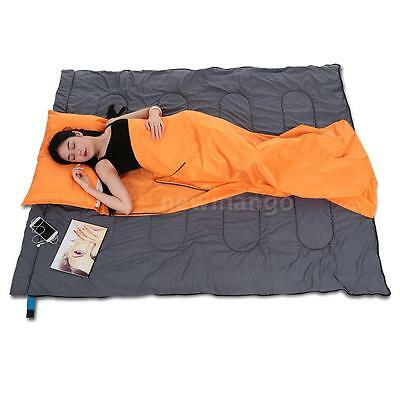 Travel Camping Hiking Healthy Sleeping Bag Liner with Pillowcase Trip Hotel Y6K2