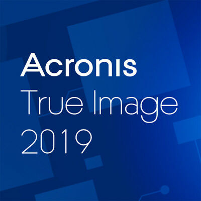Acronis True Image 2019 - 1, 3 und 5 Geräte bzw. PC - Vollversion - Download