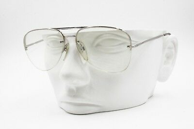 Vintage 60s Safilo mod. UFO1 Small aviator frame screwed lenses, Made in Italy