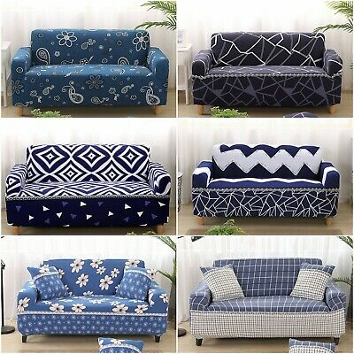 Stretch Sofa Cover Removable Lounge Couch Slipcover Washable 1/2/3/4 Seat Floral