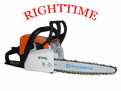 "Stihl MS170 Chainsaw fitted with 10"" Carving Kit Dime Bar 1/4 Chain & Sprocket"