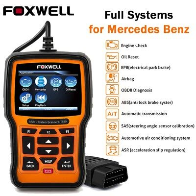 For MERCEDES BENZ Foxwell NT510 OBD2 Full System Diagnostic Scanner Tool ABS SRS