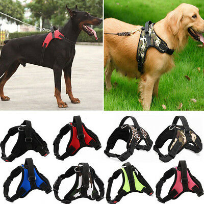 Control Dog Pulling Harness Adjustable Support Comfy Pet Pitbull Training AU